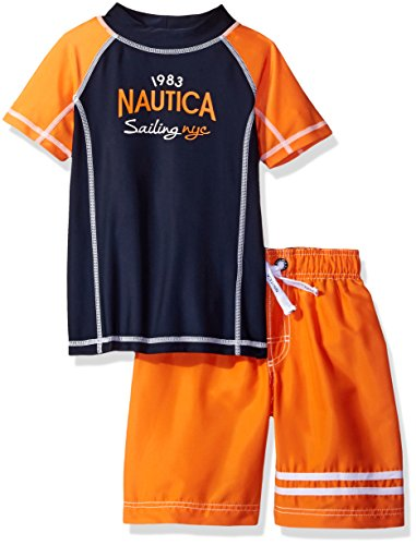 Nautica Little Boys' Rashguard Set with Upf 50+ Sun