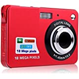 Digital Camera, Lyyes 2.7 Mini Camera HD 720P Digital Point Shoot Camera Camcorder 8X Zoom Camera for Kids and Gifts (Red)
