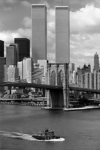 (World Trade Center New York City 1976 Photo Art Print Poster 12x18 inch)