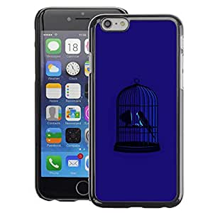 Planetar® ( Blue Bird Cage Freedom Metaphor Deep ) Apple iPhone 6 / 6S (4.7 inches!!!) Fundas Cover Cubre Hard Case Cover