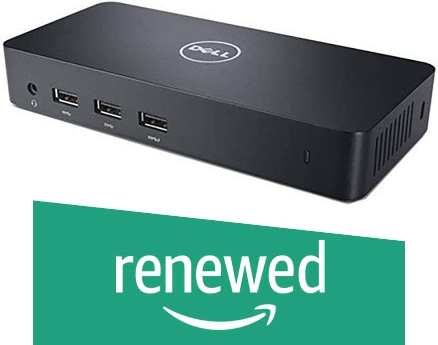 Dell USB 3.0 Ultra HD/4K Triple Display Docking Station (D3100) (Renewed)