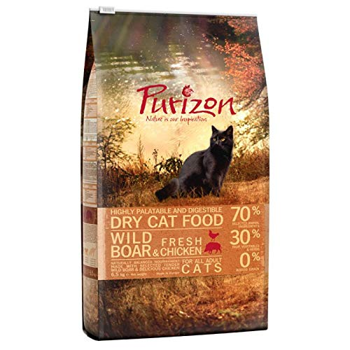 Purizon Adult Grain-Free Premium Dry Cat Food with Wild Boar 6.5 kg, with High Predein Content