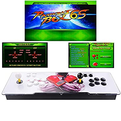 TAPDRA Video Machine Classic, 2 Players Pandora's Box 6S Multiplayer Home Arcade Console 1388 All in 1 Games Non-Jamma PCB Double Stick HDMI Power Buttons: Toys & Games