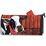 Studio M Home Mailbox Cover MailWrap - Cow Cowboy Down On The Farm