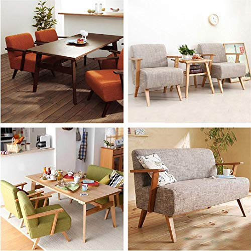 "WEICHUAN Unfinished Beech Wood Tapered Replacement Sofa Couch Chair Ottoman Loveseat Coffee Table Cabinet Wood Furniture Feet Furniture Wood Legs(5.5"" Set of 4)"