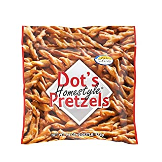 Dots Homestyle Pretzels 1.5 oz. Bags (20 Pack) Lunchbox Sized Seasoned Pretzel Snack Sticks