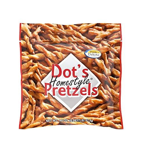 Dot's Homestyle Pretzels 1.5 oz. Bags (20 Pack) Lunchbox Sized Seasoned Pretzel Snack Sticks