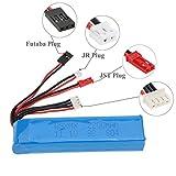 HobbyBuying - 11.1V 2200mAh 8C 3S Li-po Battery 3 Connector for JR Futaba Walkera RadioLink Transmitter