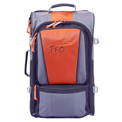 TFO Rolling Carry-On Bag Fly Fishing Durable Wheeled Luggage Travel by 30-06 OUTDOORS LLC