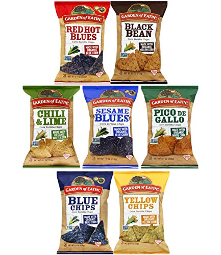 Garden of Eatin' Corn Tortilla Chips Variety Pack Sampler, Large Family Size Bags, 7.5 Ounce (7 (Cinnamon Sugar Tortilla)