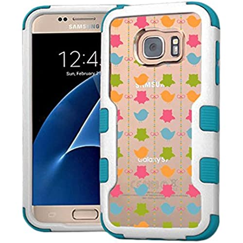 Galaxy S7 Case Colorful Birds, Extra Shock-Absorb Clear back panel + Engineered TPU bumper 3 layer protection Sales