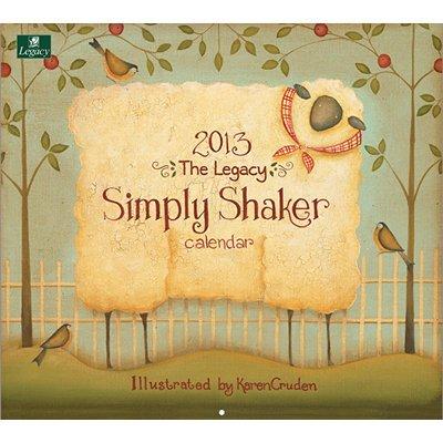 2013 Calendar Simply Shaker 2013 Wall Calendar