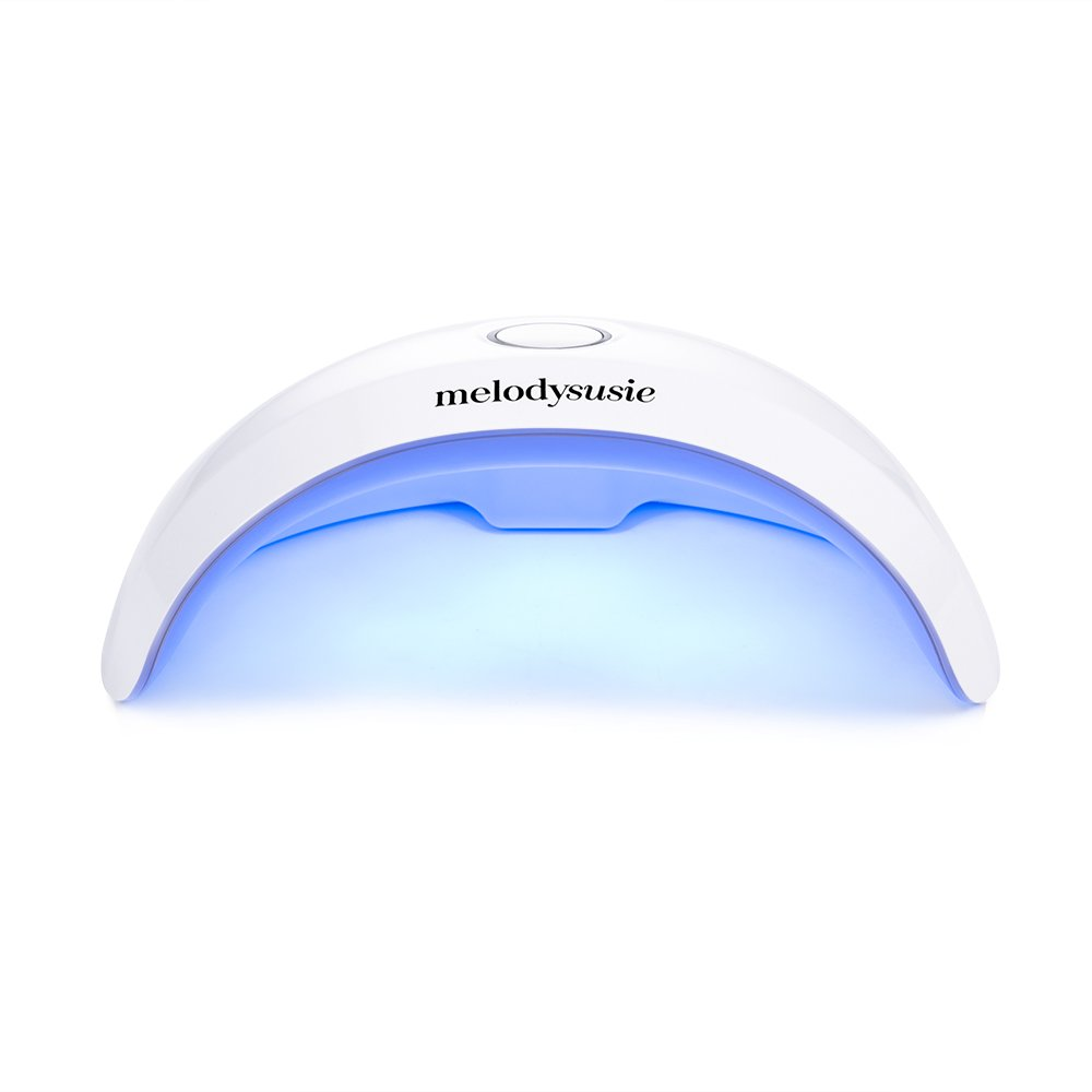 MelodySusie Portable LED Nail Lamp - Violetilac 6W Mini Nail Dryer Curing LED GEL Nail Polish Professionally - White