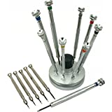 15 Precision Screwdrivers Stand Watchmaker Repair Tools