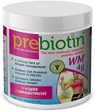 Prebiotin Prebiotic– Weight Management – 8.5 oz – Professionally Formulated to Help Reduce Gut Dysbiosis Present in Obesity – Supports Increased Satiety & Reduced Hunger – 30 Day Supply