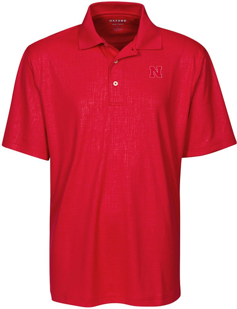 Oxford NCAA Mens Cross Hatched Embossed Polo