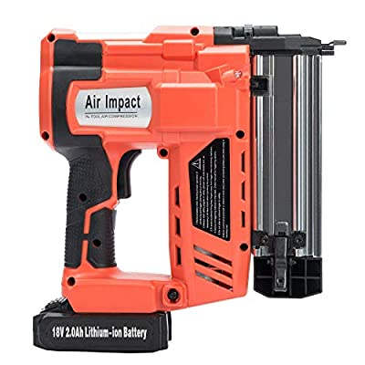 Orion Motor Tech 2 in 1 Cordless Nail and Staple Gun, 18 Gauge 18V 2000mAh Electric Brad Nailer and Stapler Kit with Rechargeable Battery and Charger(Portable Carrying Case Included)