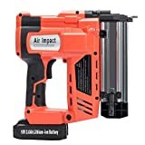 Orion Motor Tech 2 in 1 Cordless Nail and Staple Gun, 18 Gauge 18V 2000mAh Electric Brad Nailer & Stapler Kit with Rechargeable Battery and Charger(Portable Carrying Case Included)