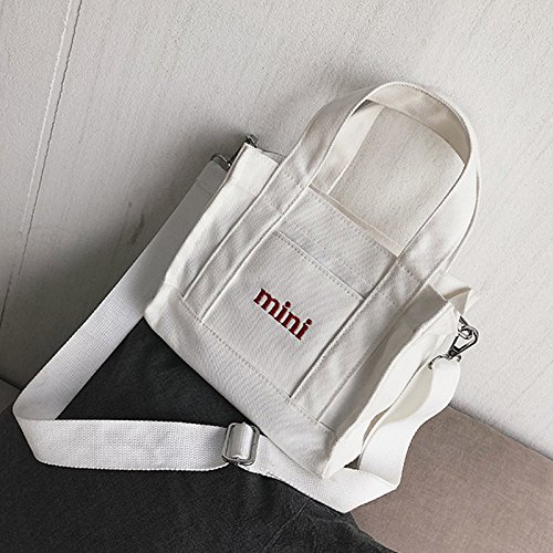 Negro Art Mini de Bolso blanco Lona de diseño Girl Lona BISSER Japonesa de niña fqwp4a7a
