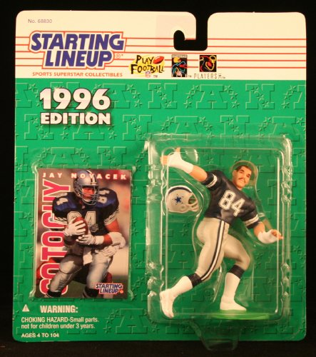 JAY NOVACEK/ DALLAS COWBOYS 1996 NFL Starting Lineup Action Figure & Exclusive NFL Collector Trading Card (Viking Line Trail)