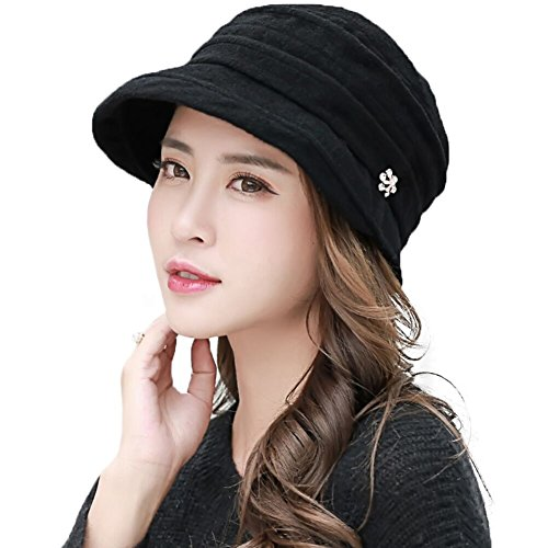 Siggi Wool Felt Cloche Hat For Women Winter Hat Black Ladies 1920s Vintage Derby Church Bowler Bucket Hat Crushable