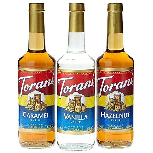 - Torani Coffee Syrup Variety Pack - Vanilla, Caramel, Hazelnut, 3-Count, 25.4-Ounce Bottles