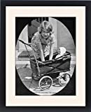 Framed Print of Princess Elizabeth playing with doll s pram