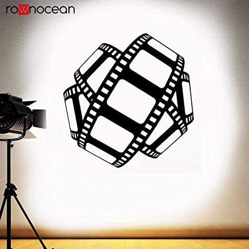 zhuziji Cinema Wall Decal Film Strip Sign Tape Film Poster Home ...