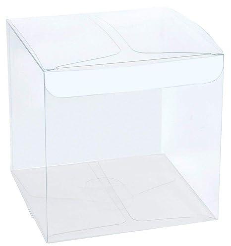 50 PIEZAS Caja pvc transparente 8x8x8 cm bolsas para ...