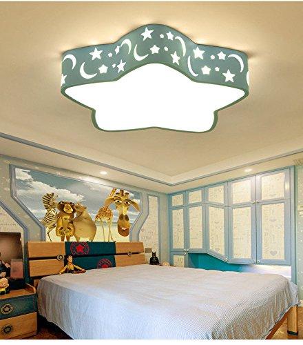 MEIHOME Deckenleuchten Kinderzimmer Mädchen moderne Kindergarten 48 cm Blau 3 Gang dimmen Deckenlampe für Schlafzimmer Wohnzimmer Küche Badezimmer