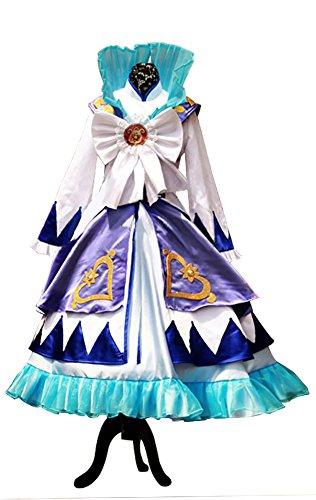 Mtxc Women's Twin Princesses of The Wonder Planet Cosplay Costume Fain Dress Size Medium Blue for $<!--$152.00-->