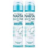 Narta - Déodorant Femme Atomiseur Anti-Transpirant Bacti-Pur Fraicheur Saine Efficacité 48h - 200 ml - Lot de 2