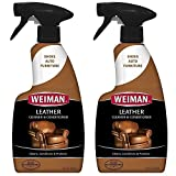 Weiman Leather Cleaner Conditioner - 16 Ounce - 2 Pack - Non Toxic Use On Your Couch Chair Purse Wallet Shoes Boots Saddle Belt Jacket Car Seat More