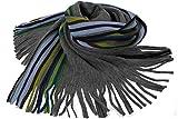 Rotfuchs Scarf - knitted, grey blue 100% wool (Merino)