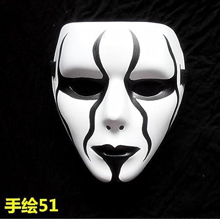 Halloween Pura Mano Pintada Ghost Dance Mask Stage Performance ...