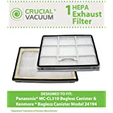 Filters Fit Kenmore 24194 & Panisonic MC-CL310 Canister Vacuums; Compare to Kenmore Part No. AC38KDRZ000, Panasonic Part No. MCV7515; Designed & Engineered by Think Crucial
