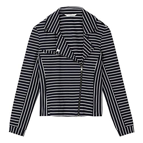 25001488 Zip Up Marino Jacket Striped Azul Sandwich Ladies qxtXRw77