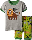 Hatley Little Boys' Organic Cotton Short Sleeve Appliqué Pajama Sets, Safari Adventure, 4 Years