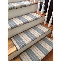 Lauren Venice 100% New Zealand Wool Authentic Handmade Wool TRUE Bullnose Carpet Stair Tread Runner Replacement for Style, Comfort and Safety (35 Wide, 1308 Venice)
