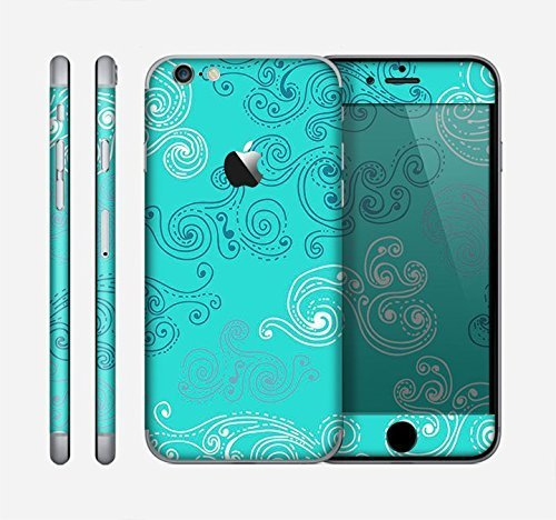 The Blue Swirled Abstract Design Skin for the Apple iPhone 6