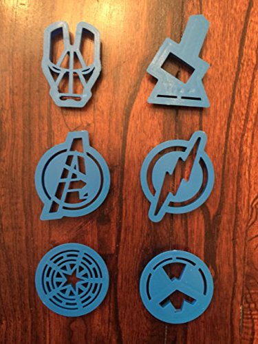 NEW AVENGERS IRONMAN THOR CAPTAIN AMERICA FLASH SUPERHERO COOKIE CUTTER SET by superman batman cookie cutter (Image #2)