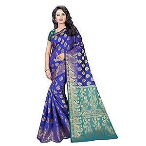 Indian Fashionista Women's Banarasi Silk Saree with Blouse