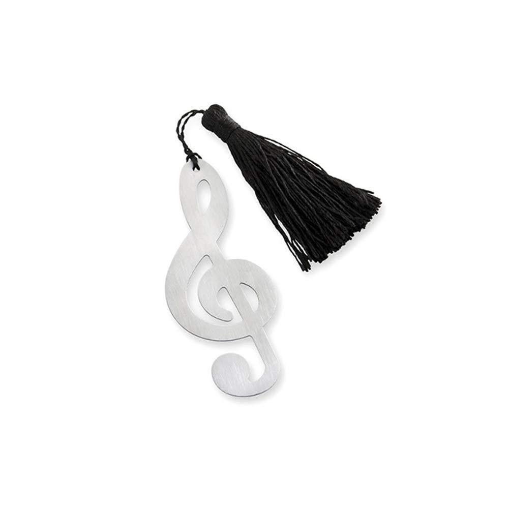 Li-ly M/étal creux notes de musique signets marque-page /él/égant gland de soie durable et pratique