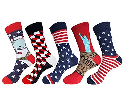 Mens Dress Socks,EmaoFun Funny Crazy Fancy Colorful Novelty Pattern Socks -