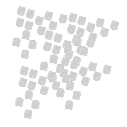 Uñas de Pies Franceses de Dedos de Acrílico 500 pcs: Amazon.es ...