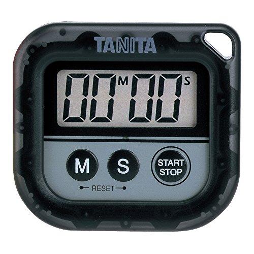 Tanita 타니타 통째로 세탁 타이머100 분계 블랙 TD-376-BK
