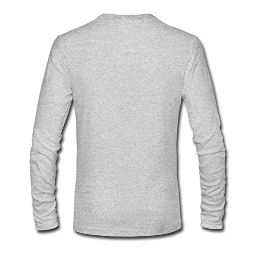 RUIFENG Men's Call Of Duty Advanced Warfare Long Sleeve T-shirt Size M Heather Gray