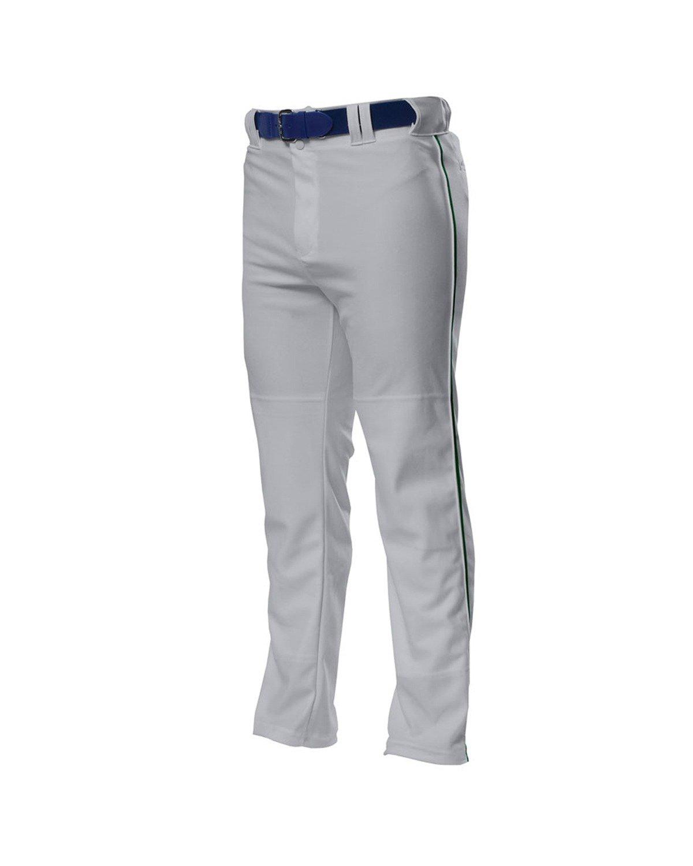 A4 野球用 バギーパンツ メンズ プロ仕様 パイピング入り B00BPXQIOI L|Grey/ Forest Grey/ Forest L