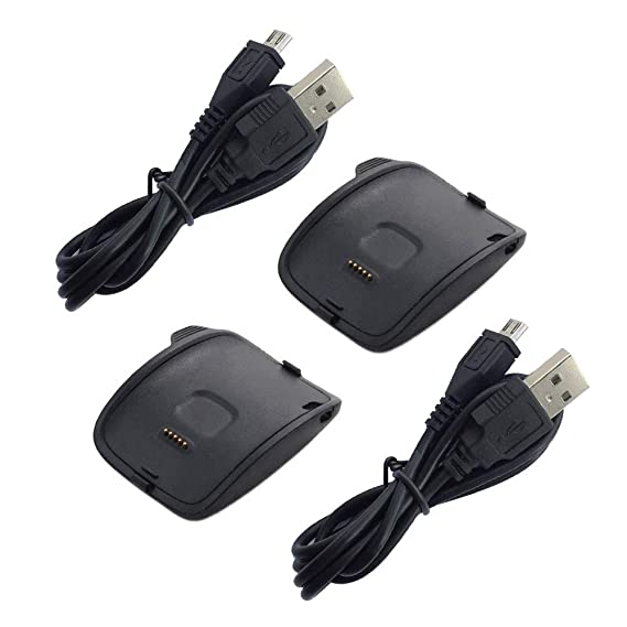 Kissmart Replacement Gear S Charger (2PCS), Charging Cradle Dock for Samsung Gear S R750 Smart Watch (Gear S Charger - 2PCS)
