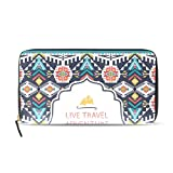 Womens Zipper Wallet Africa Art Mr Paisley Clutch Purse Card Holder Bag